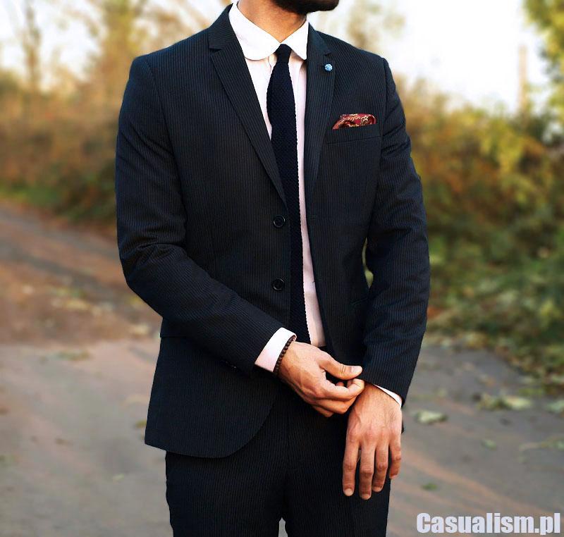 Garnitur w prążek Casualism Blog Moda Męska