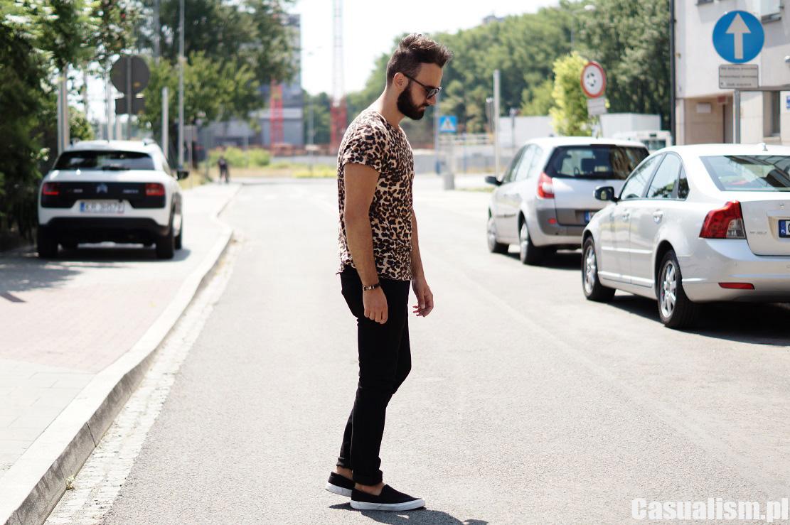 Koszulka w panterkę Casualism Blog Moda Męska  jQfKg