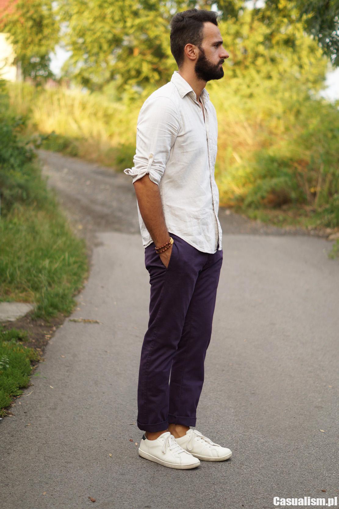 spodnie męskie chinos