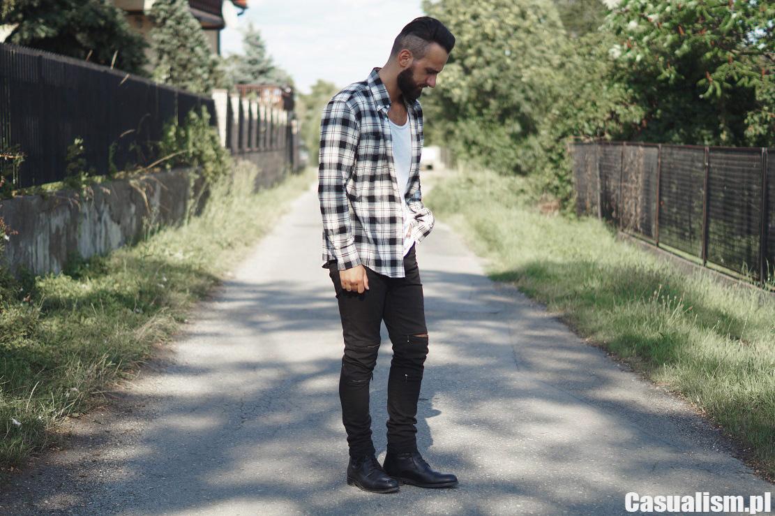 Czarne jeansy wąskie