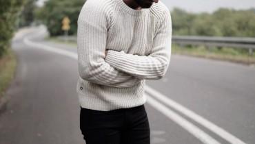 Męski gruby sweter