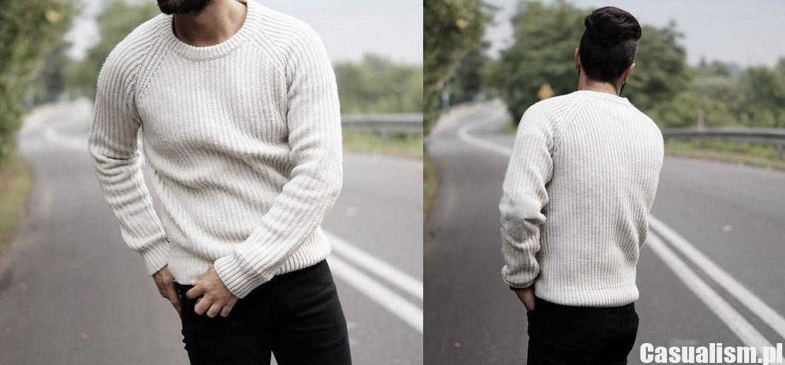 Gruby męski sweter