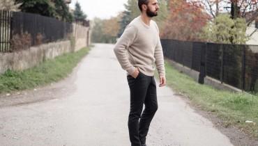 Sweter kaszmirowy i spodnie w kant