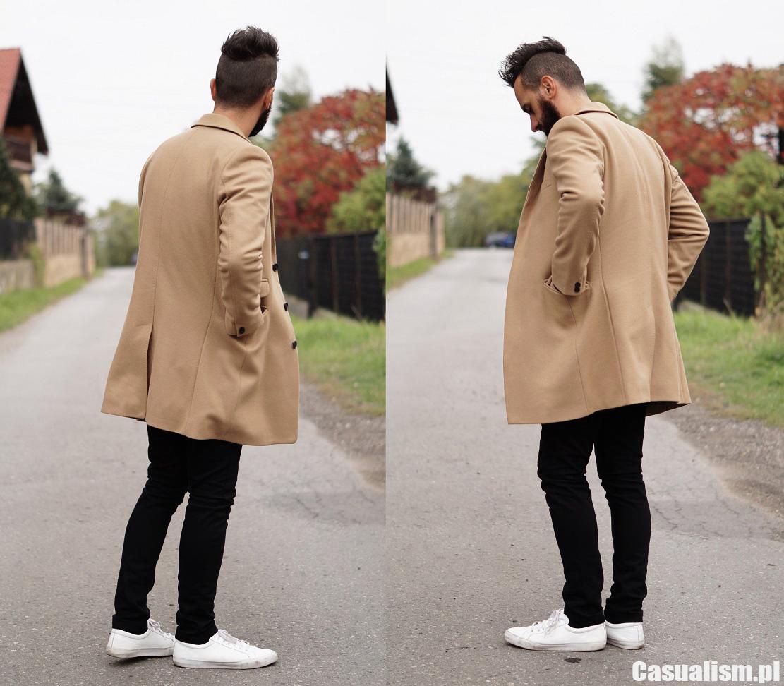 Męski płaszcz camel