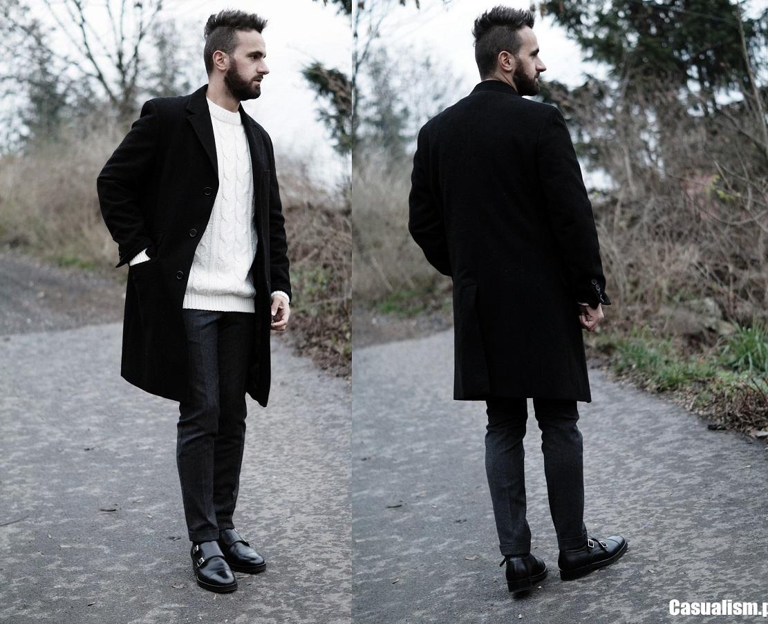 Płaszcz męski czarny