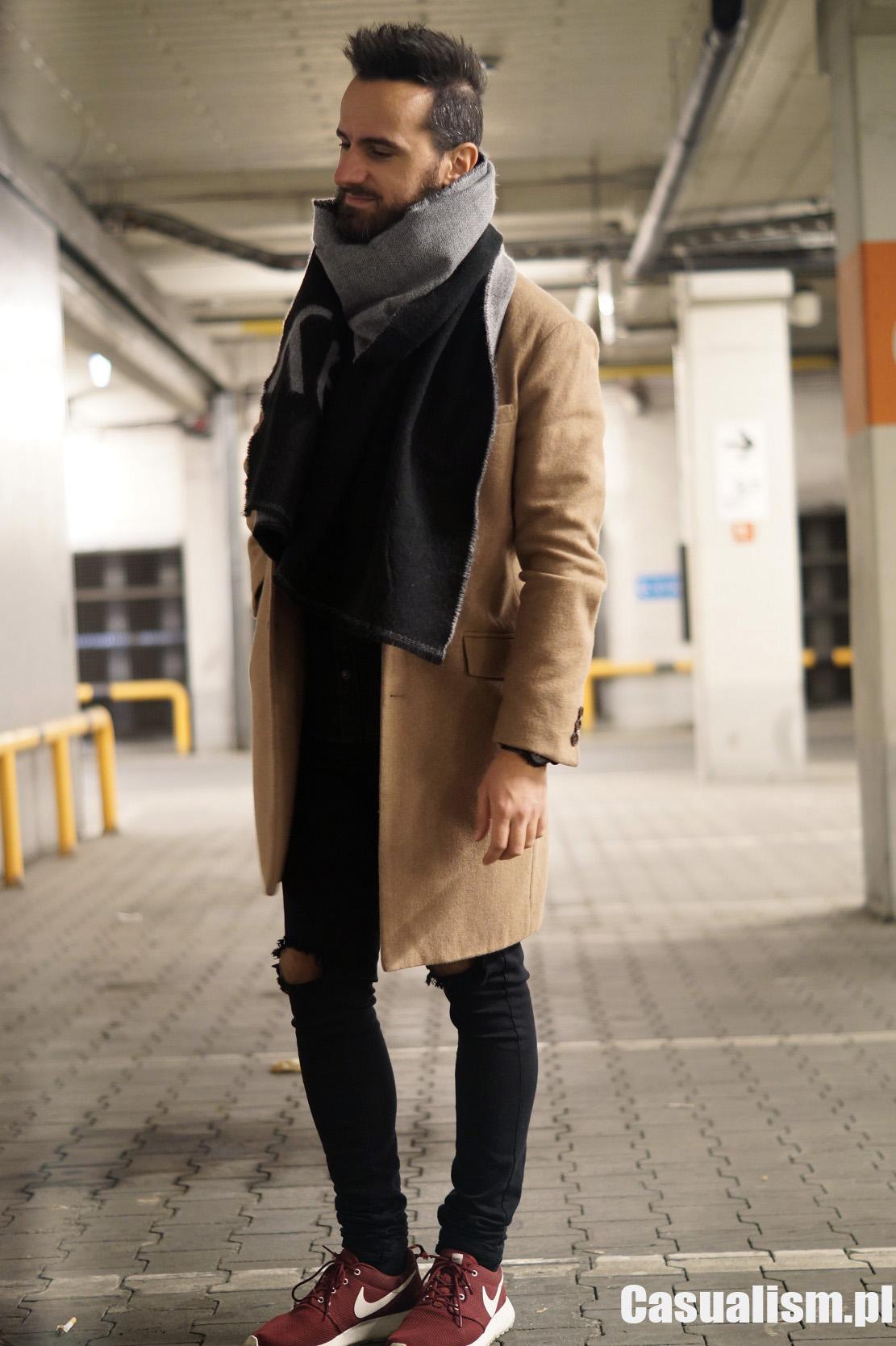 Płaszcz camel męski