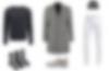 Kolaż / męskie inspiracje – białe spodnie w zimie