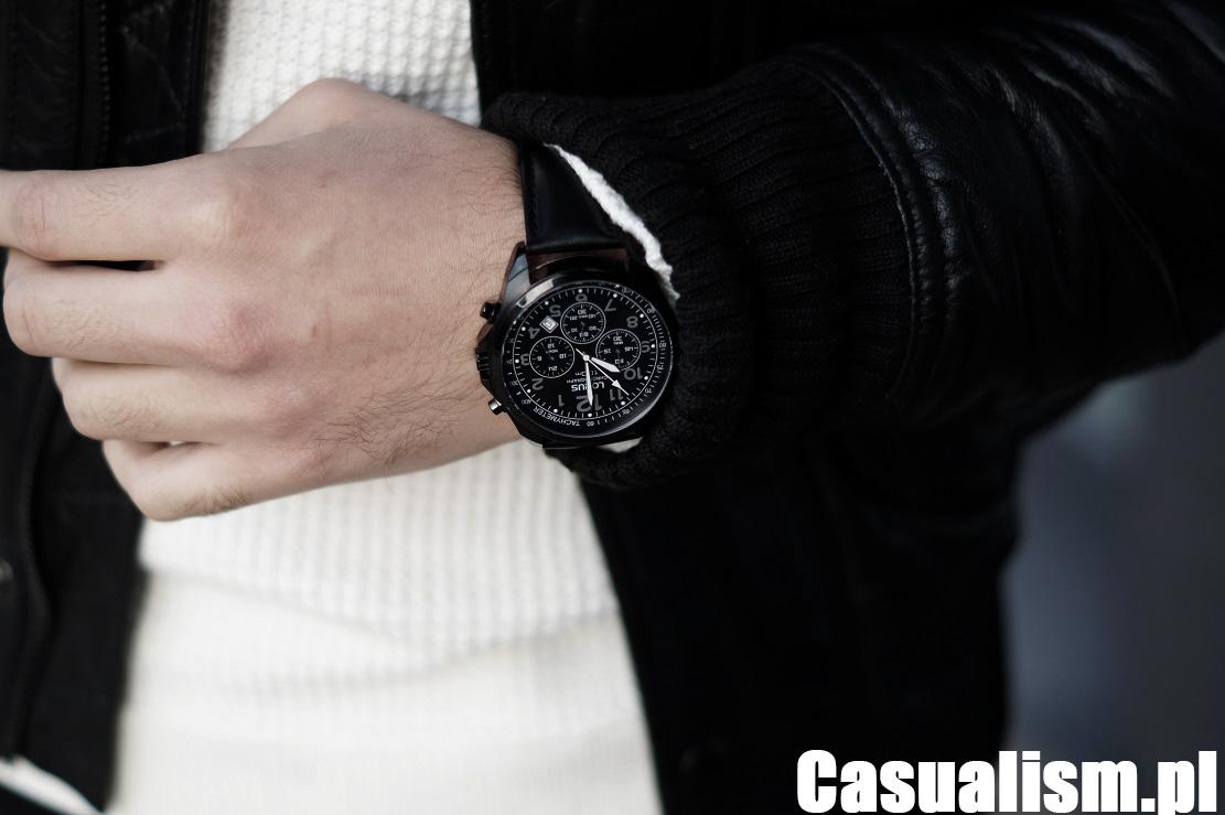 Czarny zegarek męski