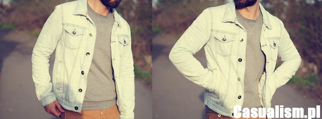 Jasna kurtka jeansowa, jeansowa katana, męska kurtka jeansowa, męska denim kurtka, kurtka denim