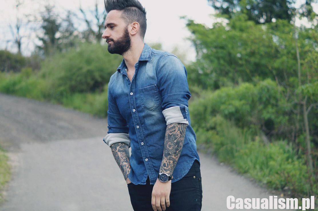 Koszula jeansowa męska, męskie jeansowe koszule, koszule jeans, jeans koszula męska, męska dżinsowa koszula.