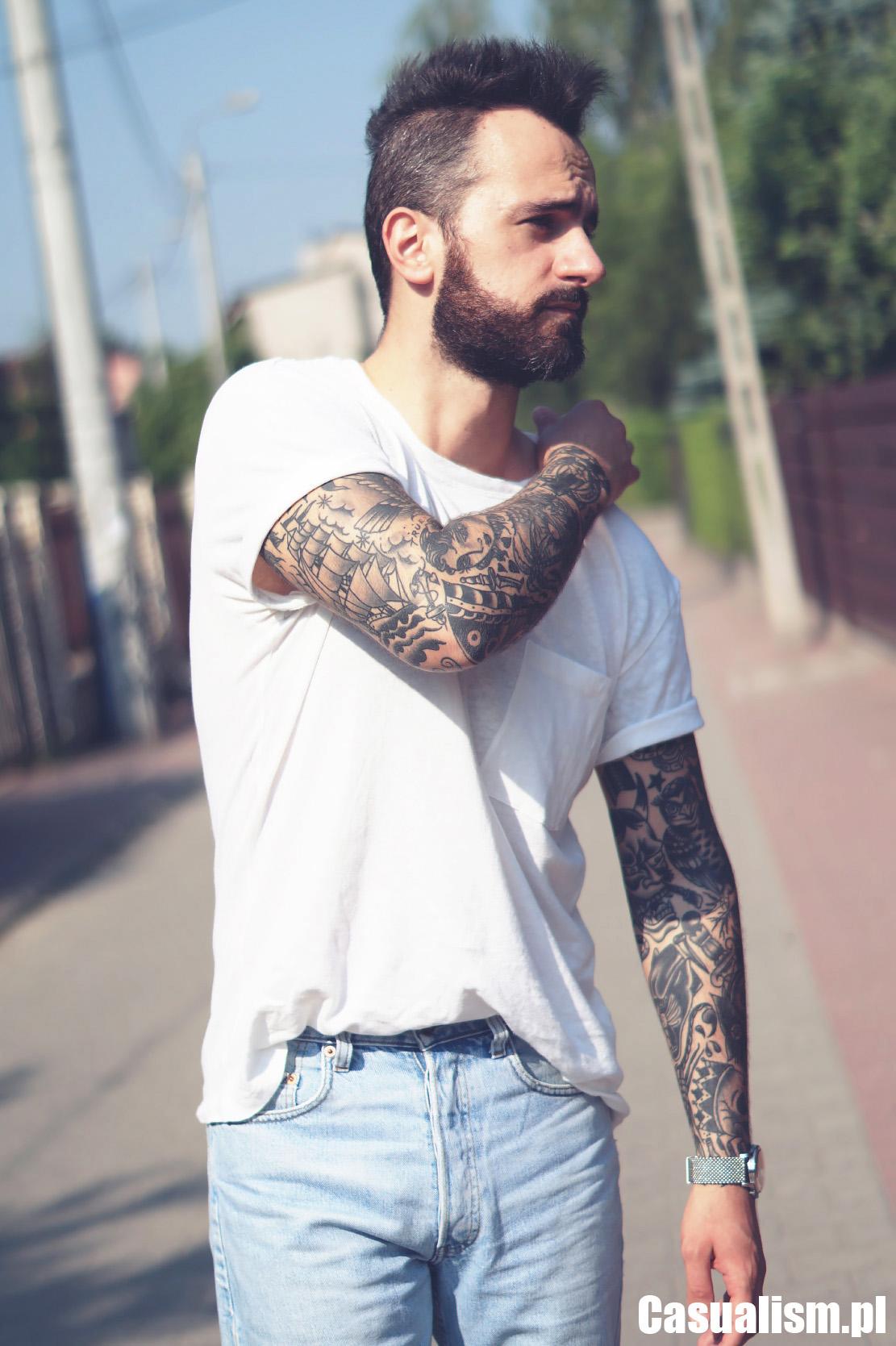 Szorty męskie, męskie spodenki jeansowe, koszulka lniana, lniana koszulka, męskie szorty jeans, szorty jeansowe, styl casual, męskie ubrania casual