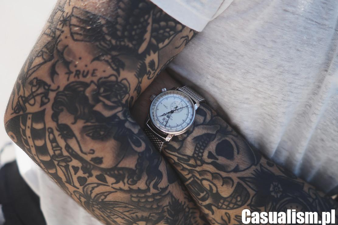 Zegarek na bransolecie, zegarek mesh, pasek do zegarka, zegarek z chronografem, zegarki męskie srebrne, jak nosić zegarek