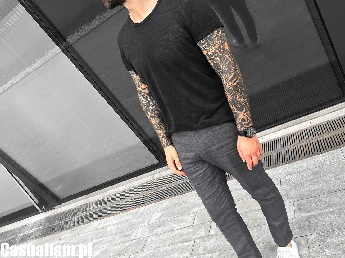 Koszulka lniana męska i spodnie Casualism Blog Moda Męska  sy6V0