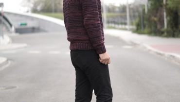 Gruby sweter męski, męskie grube swetry, swetry grube wełniane, wełniany sweter męski, męski sweter kablowy, wzór męskich swetrów