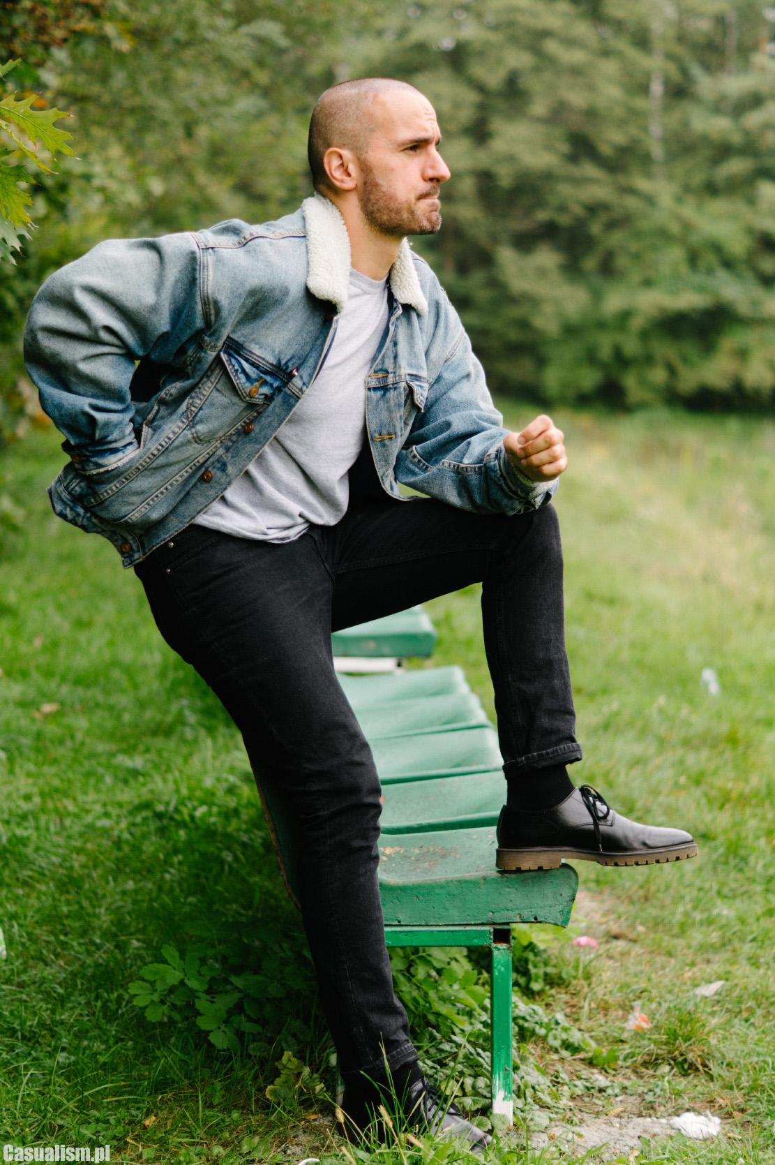 kurtka jeansowa dla faceta, meska kurtka jeansowa, kurtka jeansowa z kozuchem, kurtka jeansowa kozuszek, kurtka jeans dla mezczyzny