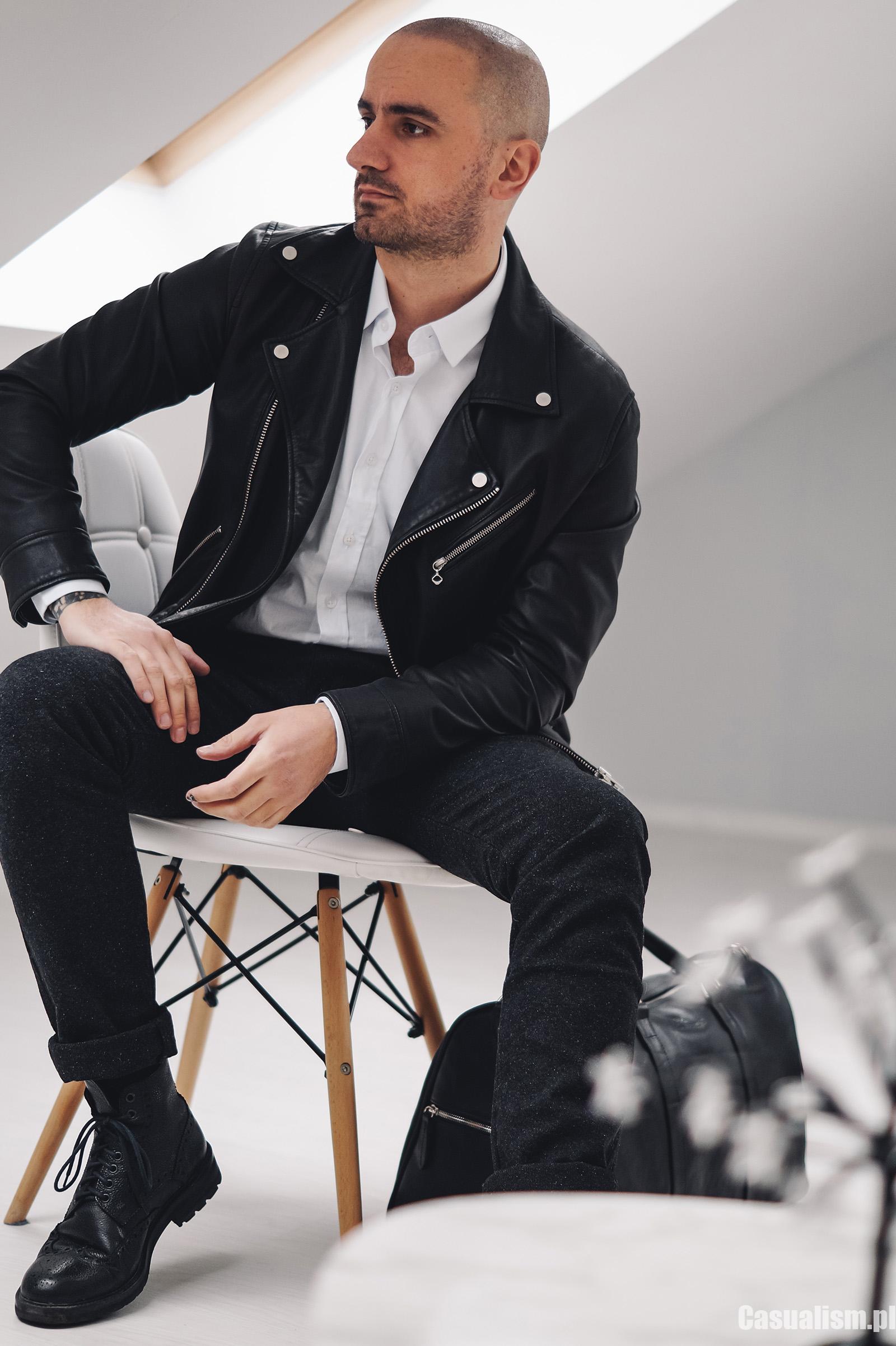 elegancka kurtka skórzana, kurtka ze skóry, skóra kurtka elegancka, eleganckie kurtki dla faceta ze skóry