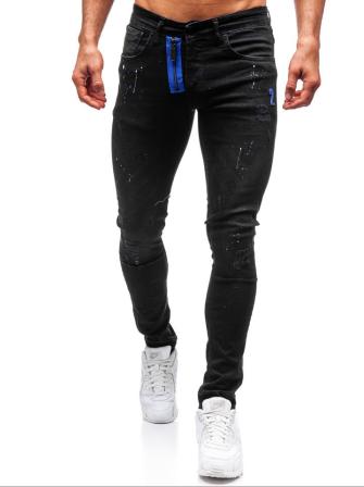 jeansy męskie czarne